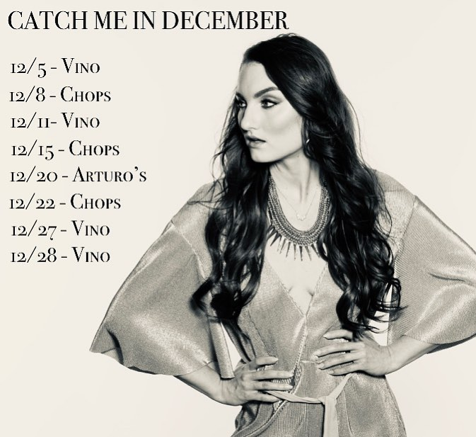 DECEMBER PERFORMANCE SCHEDULE IS OUT 🖤 #boca #livemusic #december @chopsboca @vinowinebarboca
