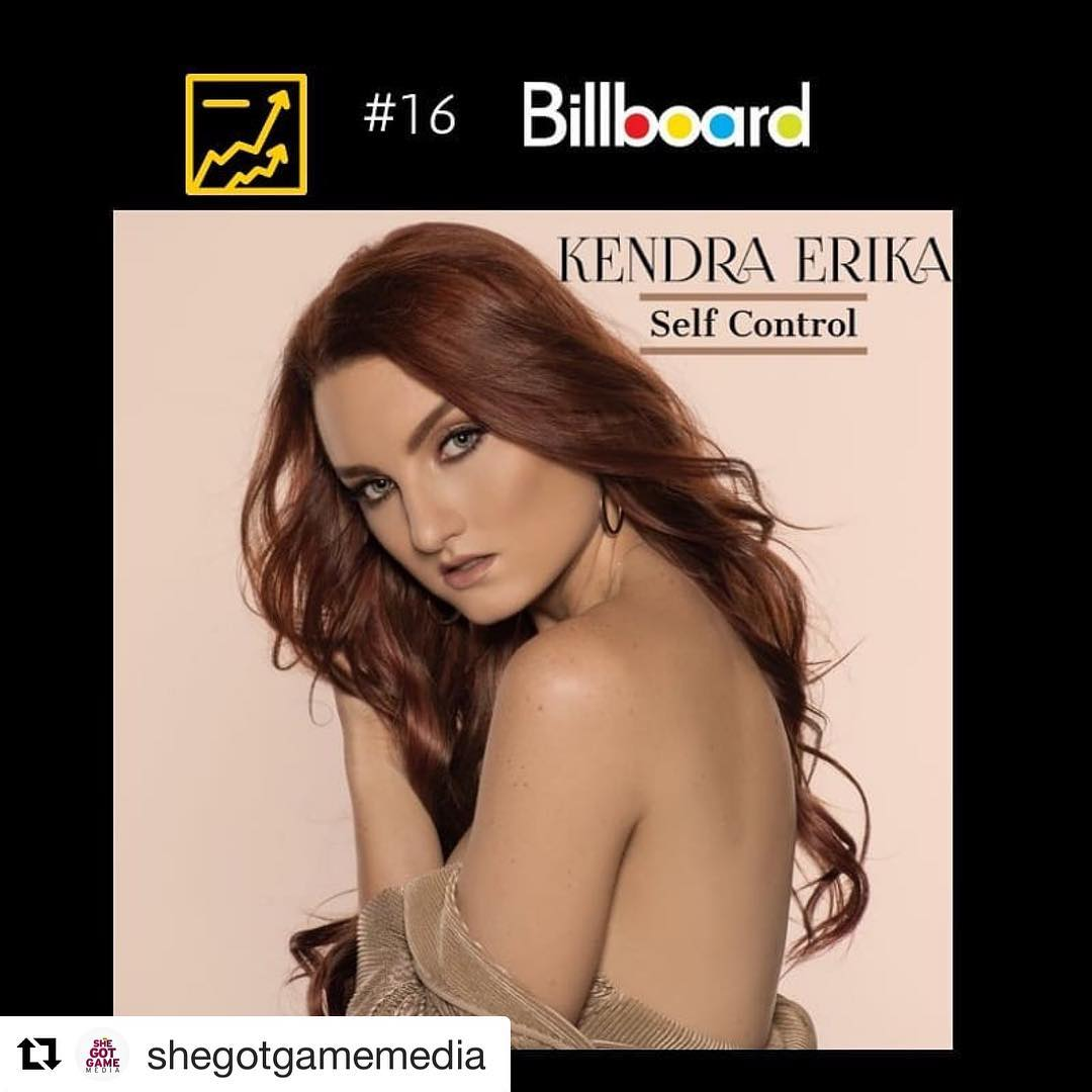 #Repost @shegotgamemedia with @get_repost ・・・ Movin on up! Self Control by Kendra Erika is now #16 on the #billboarddance chart  #risingstar #selfcontrol  #edm #clubsong Tell your fave #artBasel DJ to rock this joint. @billboard @billboarddance